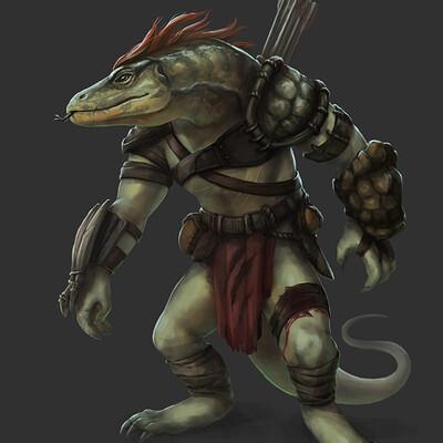 Adela quiles lizardfolk