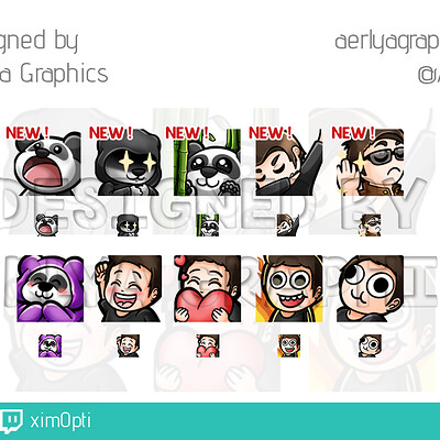 Aerlya graphics sample emotes ximopti