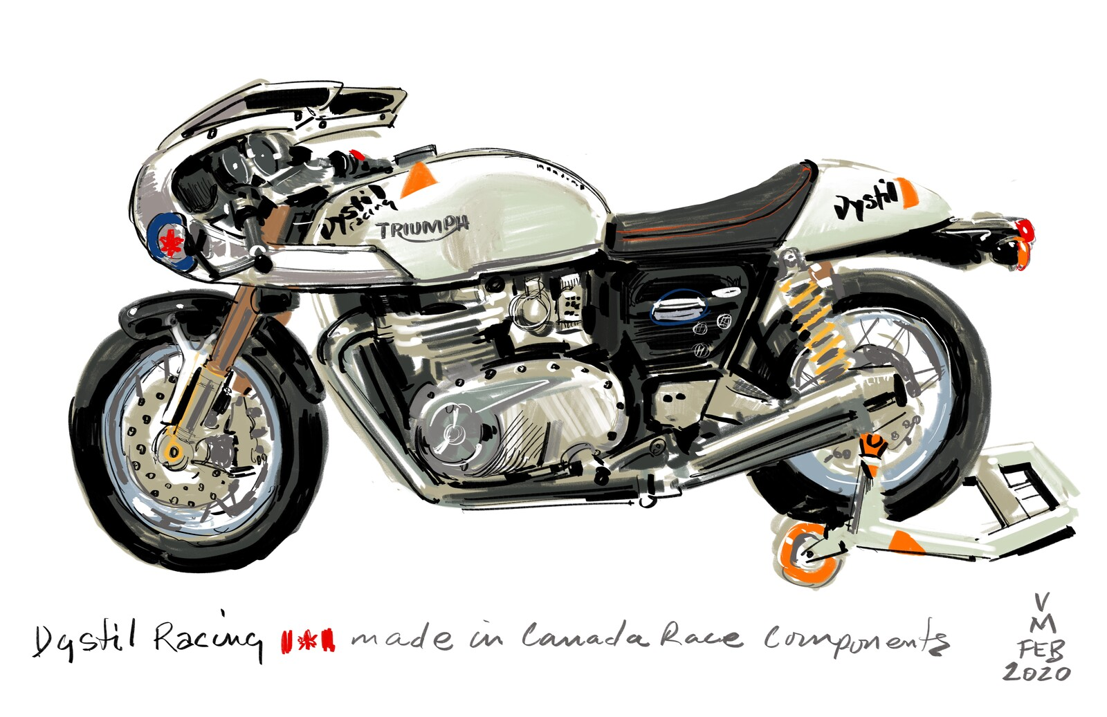 Drawn On the spot at the Toronto CNE Motorcycle show