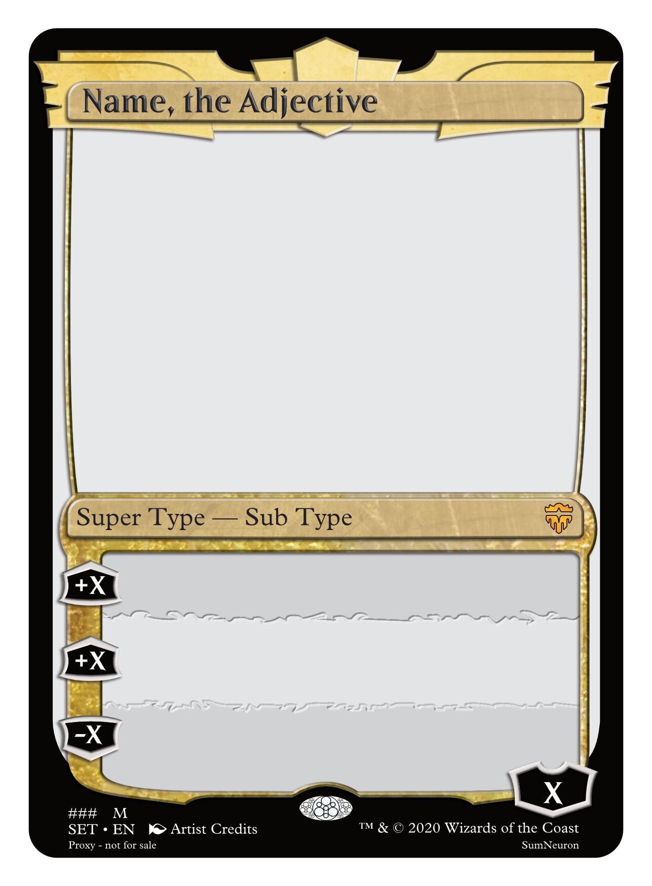 ArtStation - Brawl Arena Card Frame, Sumner Magruder Pertaining To Blank Magic Card Template
