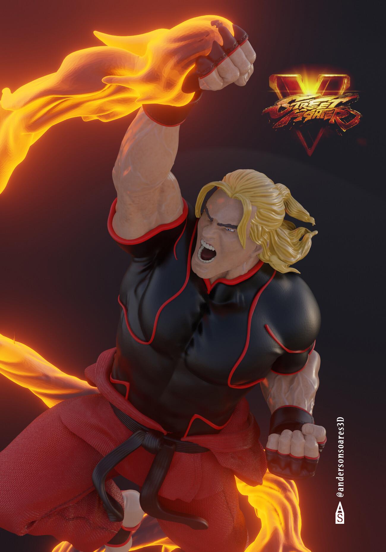 Artstation Street Fighter 5 Ken Masters Anderson Soares3d
