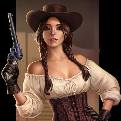Katerina kirillova old west girl