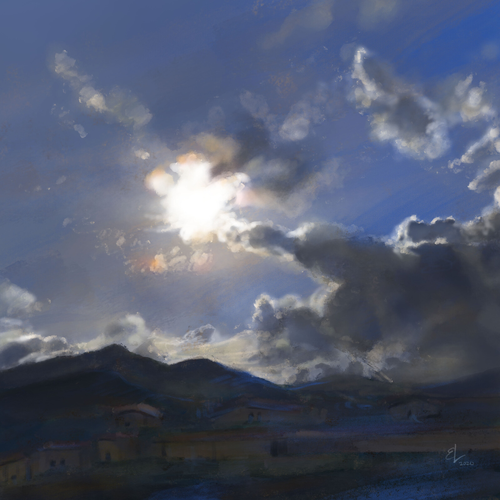 Saturday Morning Sun - Quick Sketch