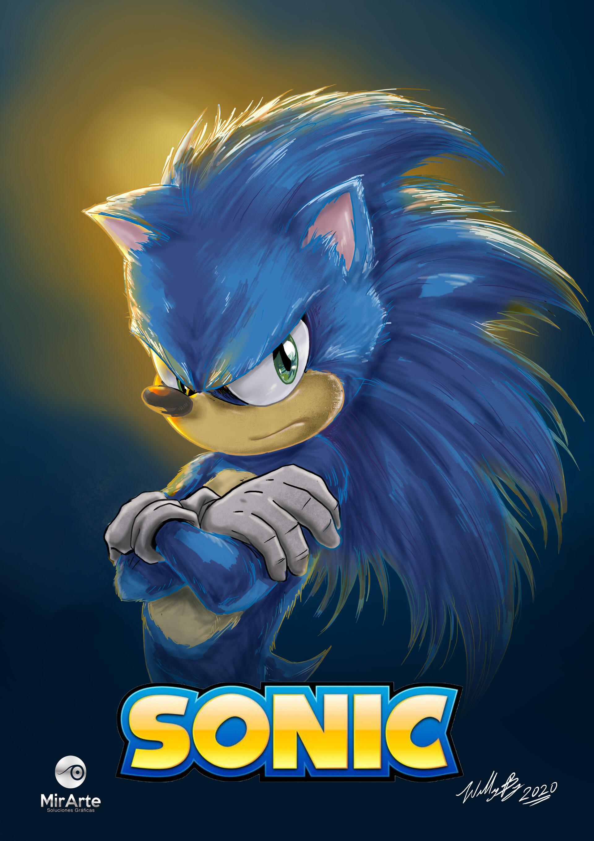 Artstation Sonic The Hedgehog William Bajana
