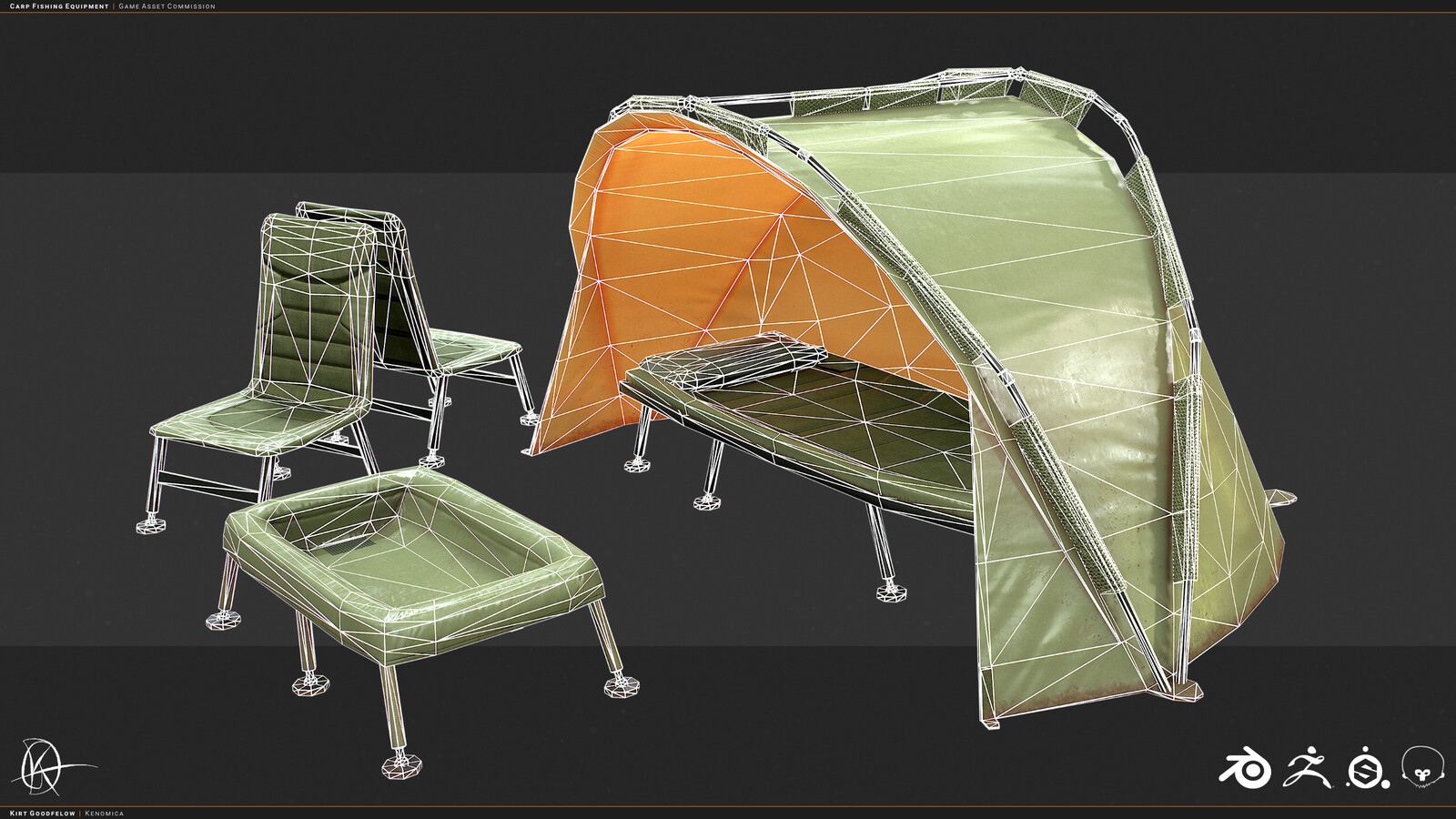 Carp Fishing Equipment - Wireframe