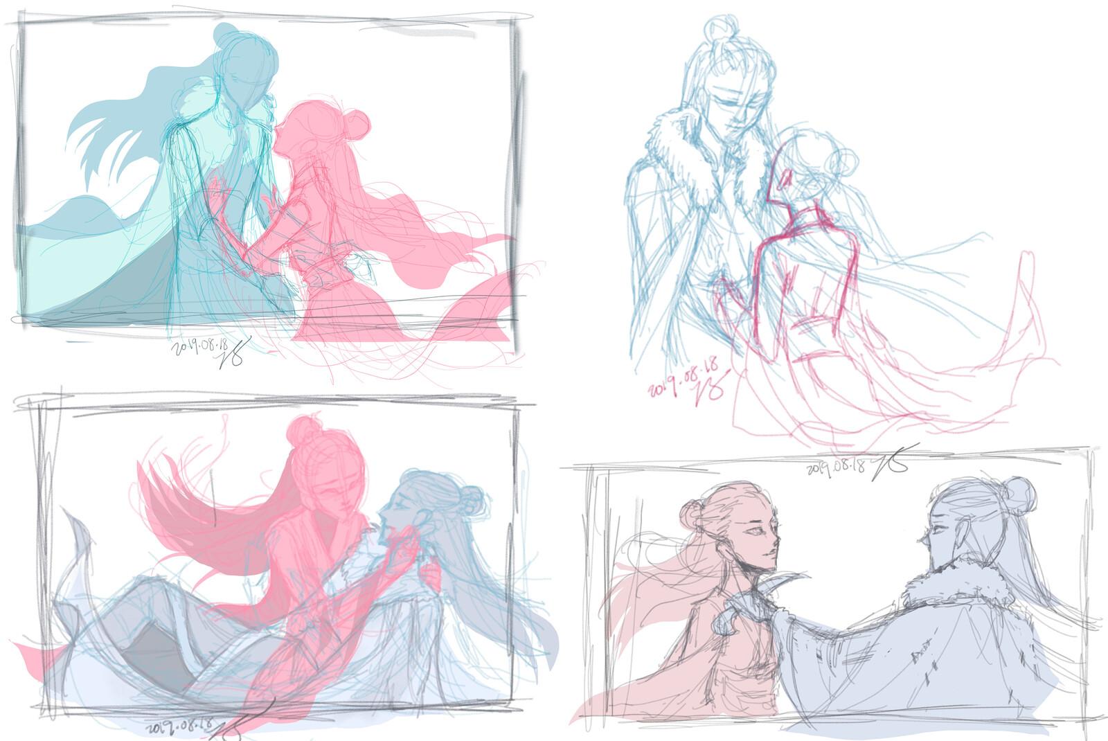 unused concept sketches