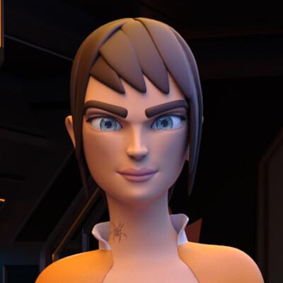 Celesta Sci-Fi Character