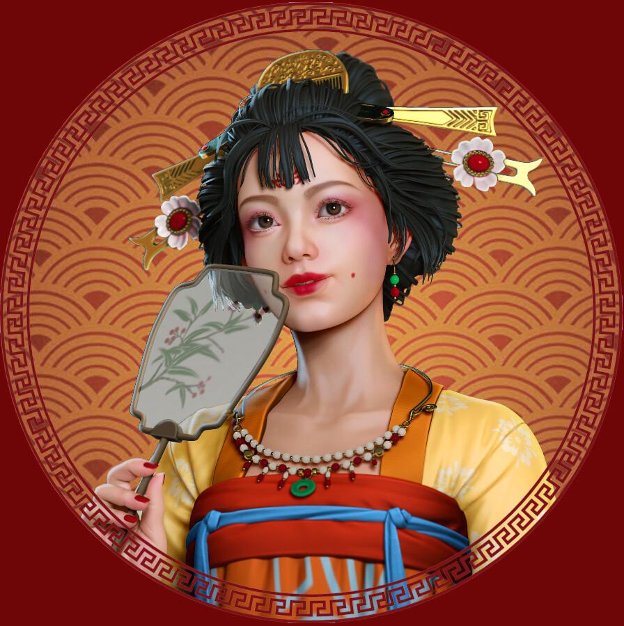 yao zhu - 唐朝少女