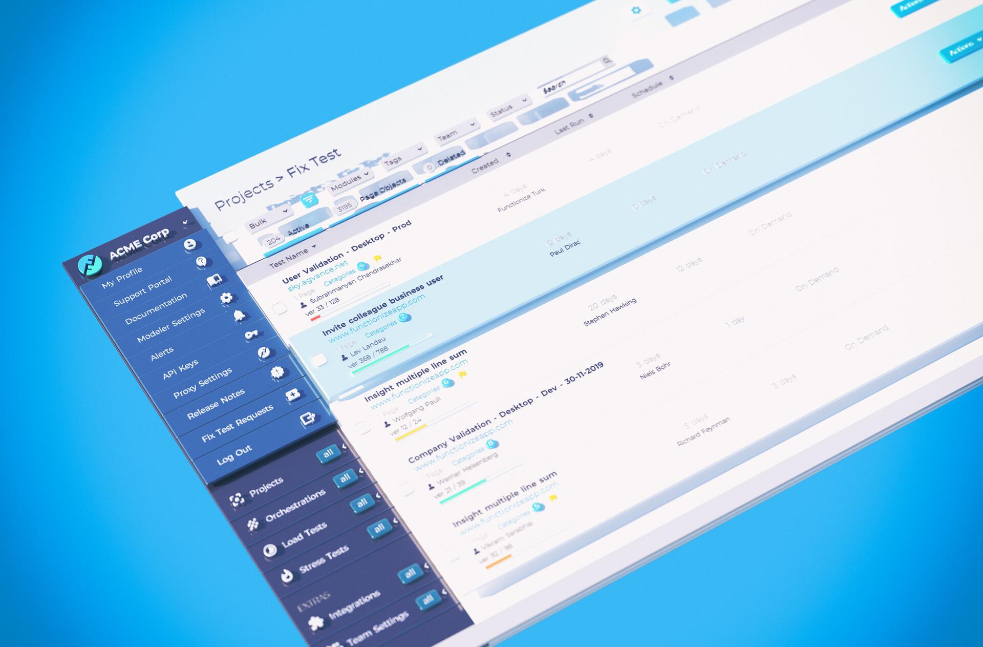3D UI - main app v2