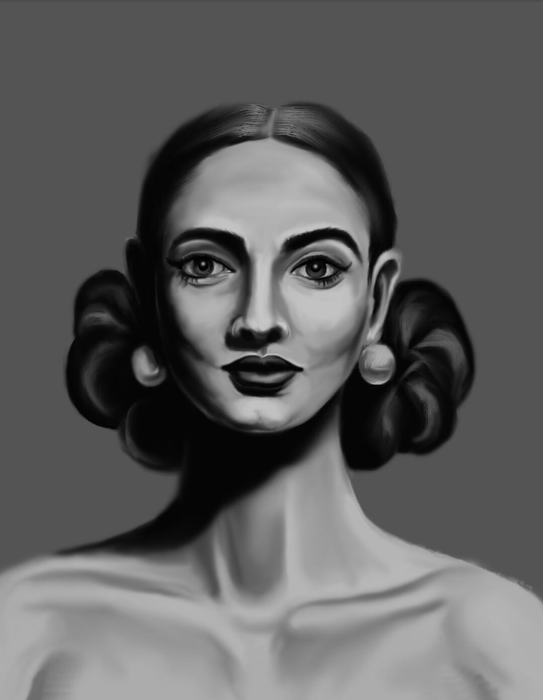 Artstation Grayscale Portrait Study Sagar Kumar
