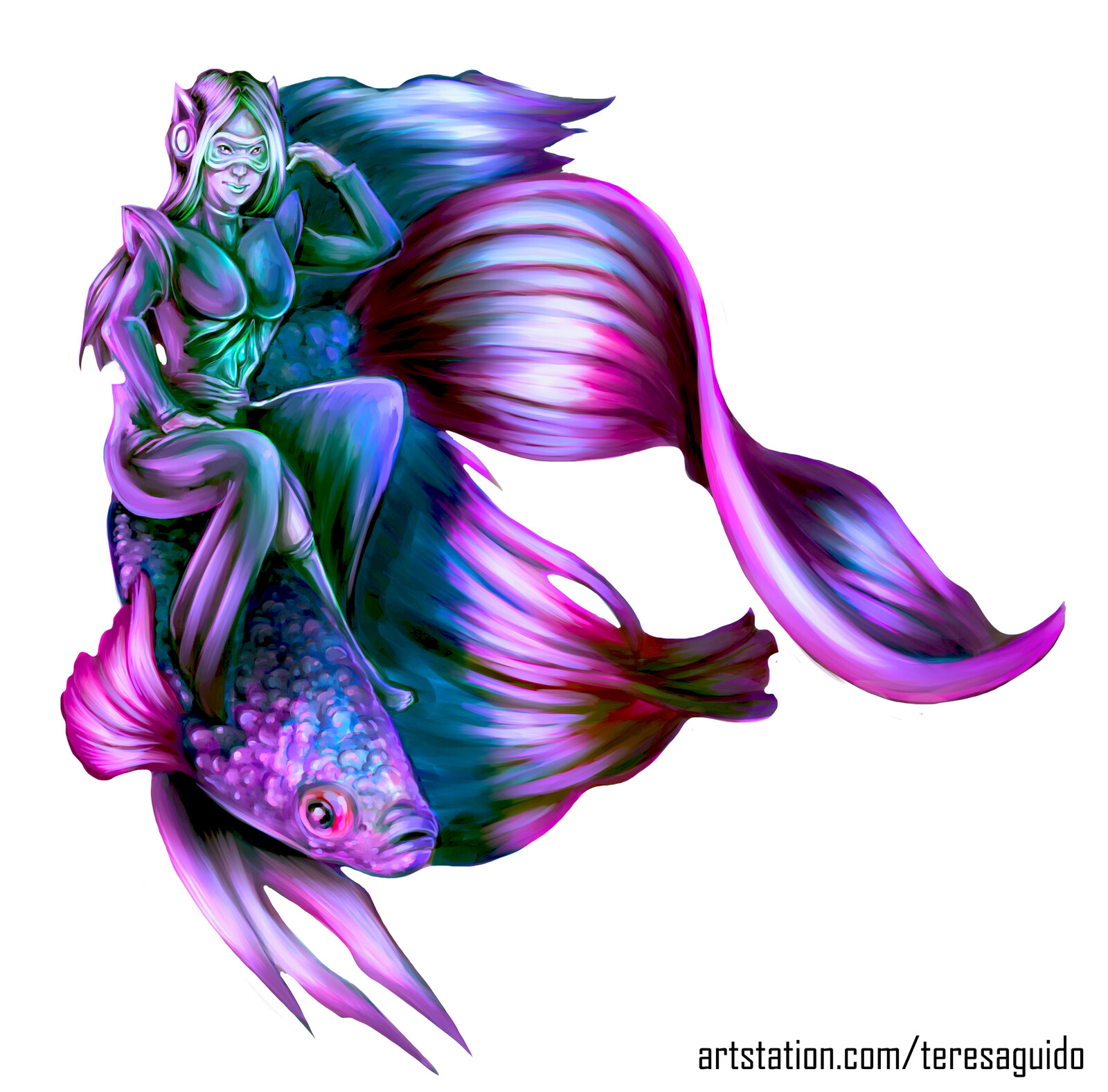 Betta Fish Girl