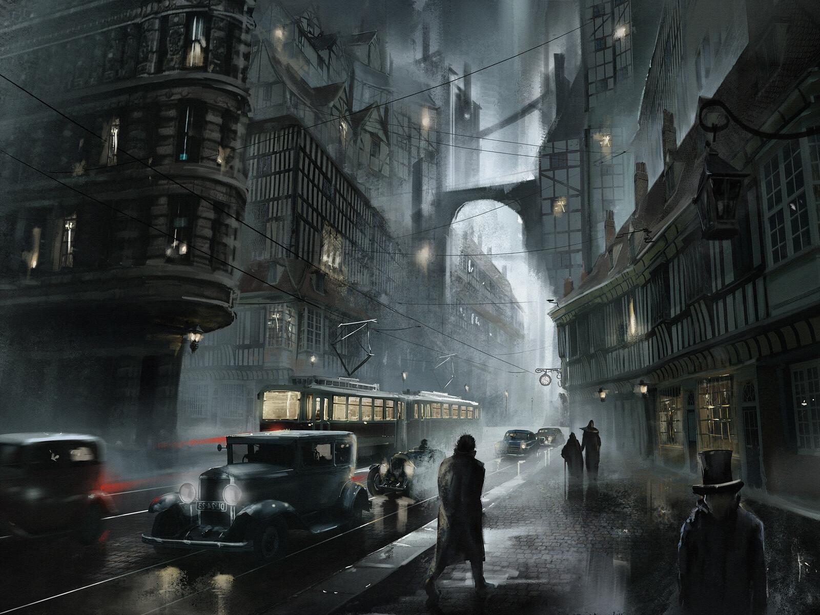 Dark Moody Street