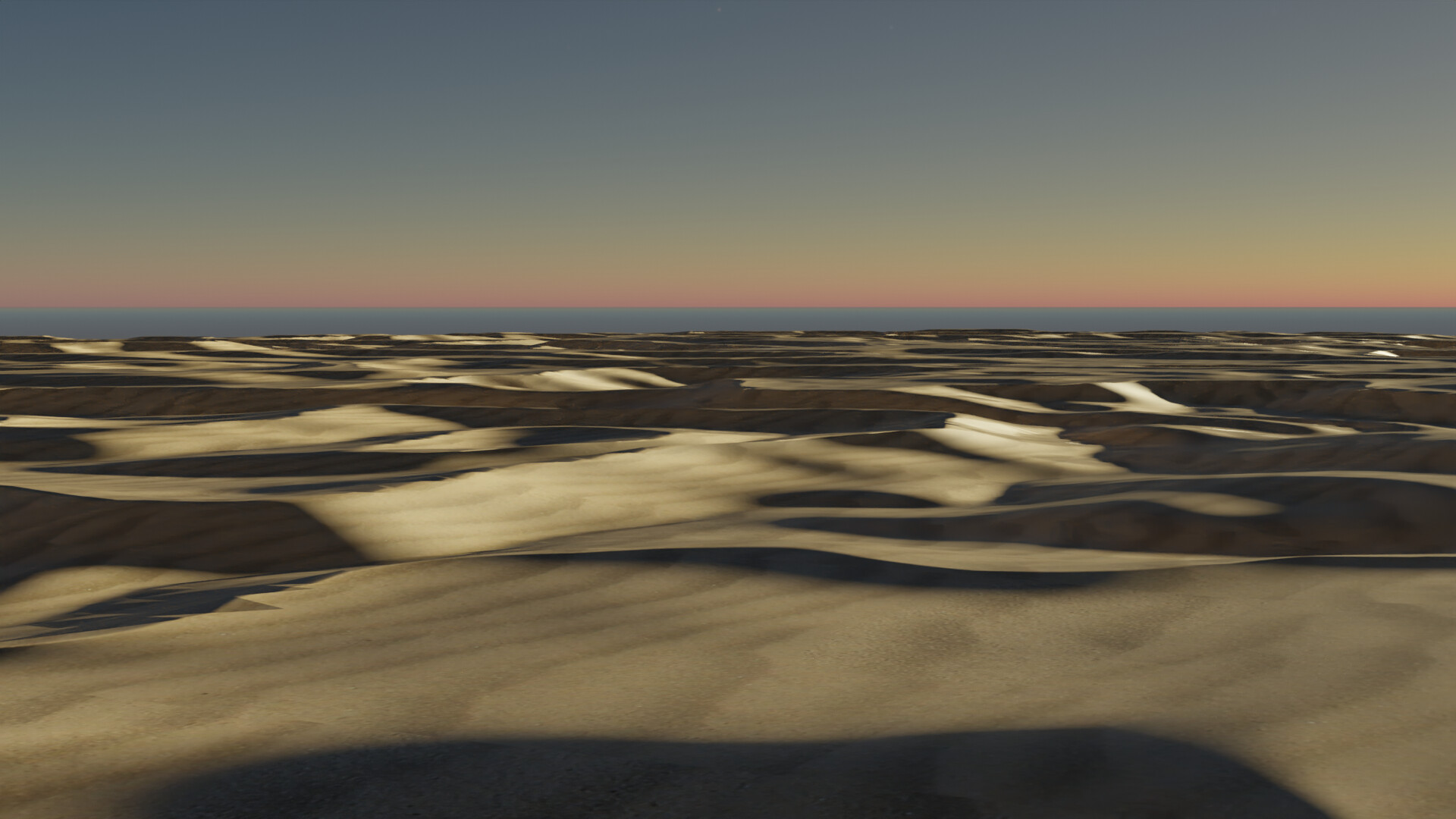 Study using procedural generated dunes.  Not bad, needed tweaking.  Not hating it, not loving it.