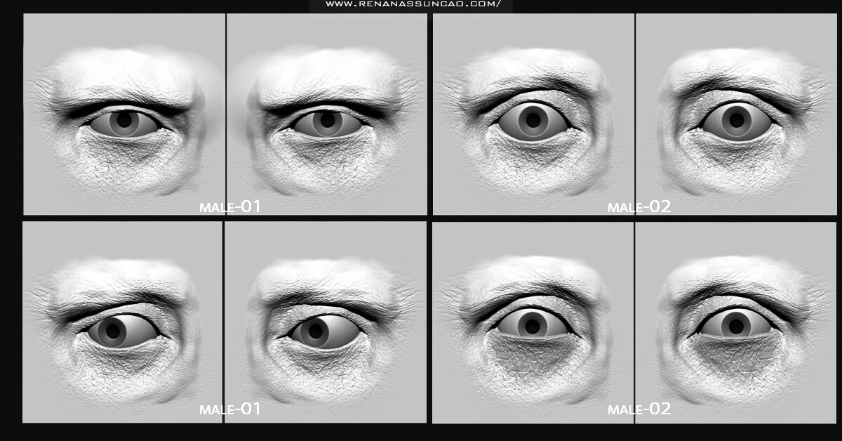 Artstation Vdm Full Human Eye Pack 30 Maps Renan Assuncao