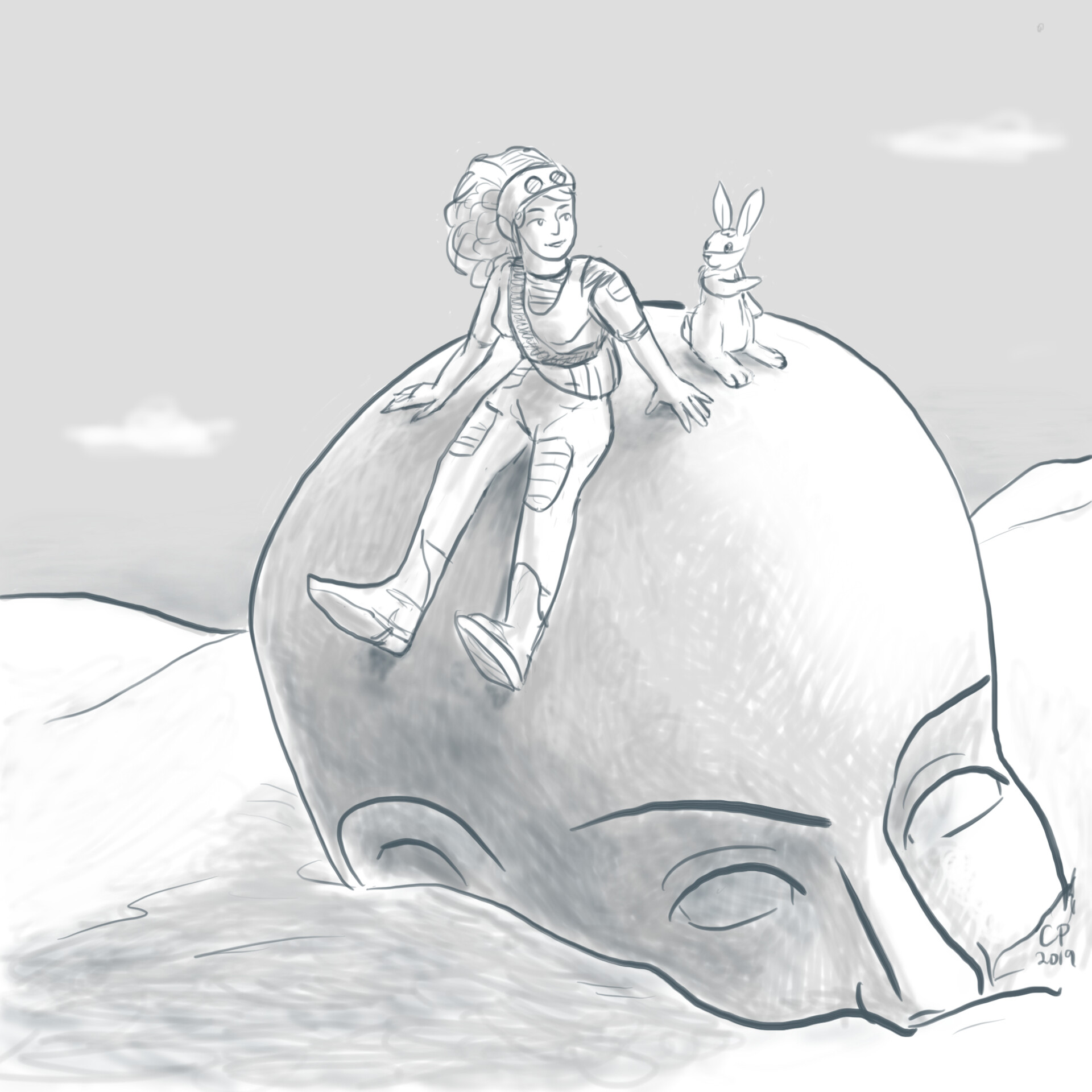 11 Buried Statue