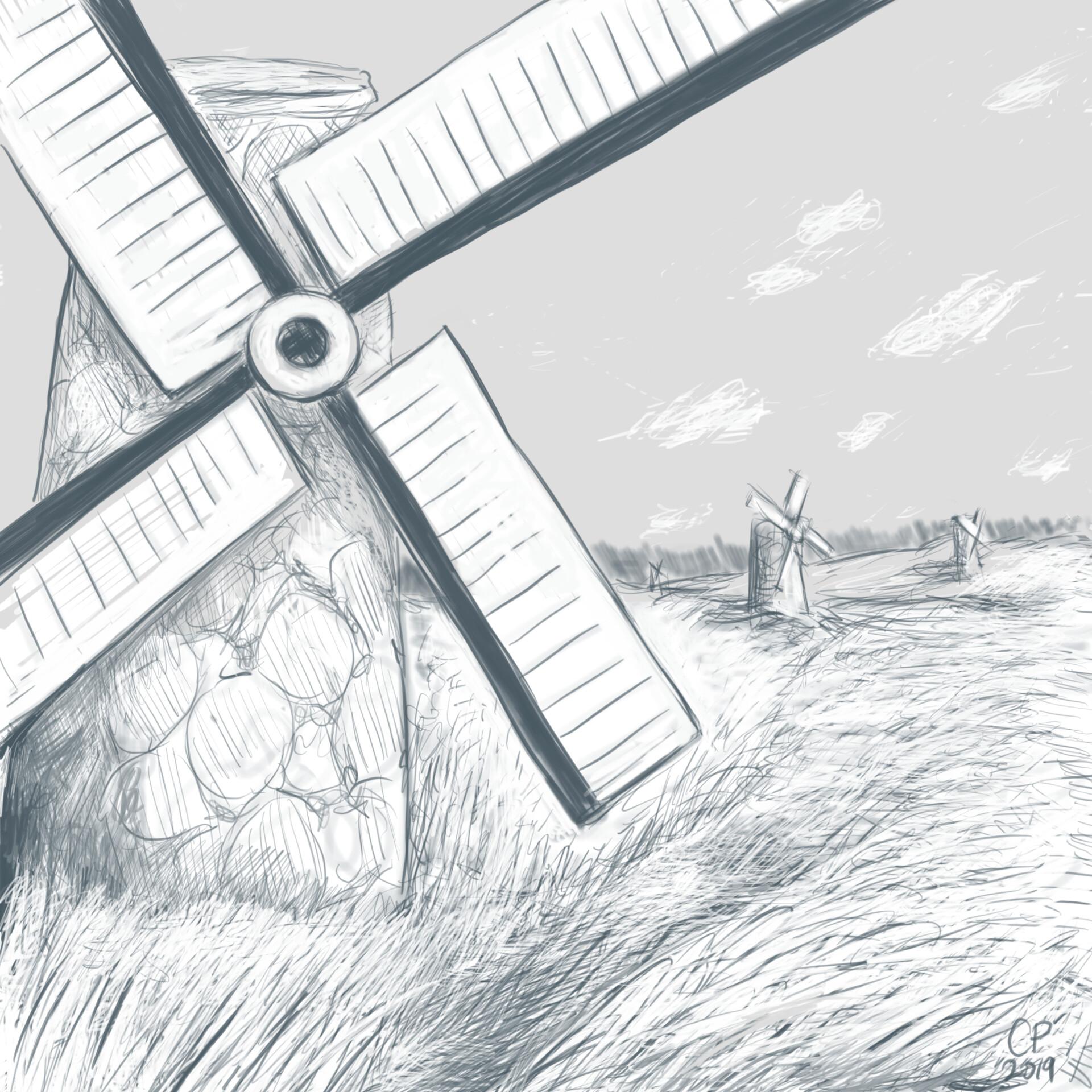 8 Windmills And Grasslands