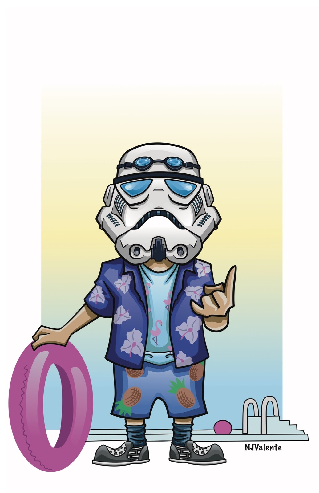 @VacationTrooper vector illustration (commission)