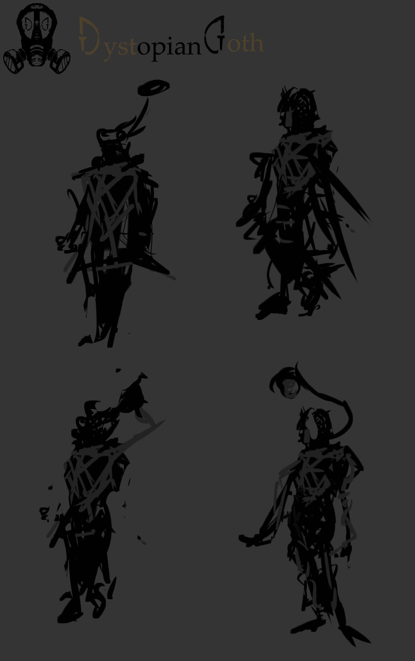 Iterative character designs created for Dystopian Goth | Character_03 - Benevolent