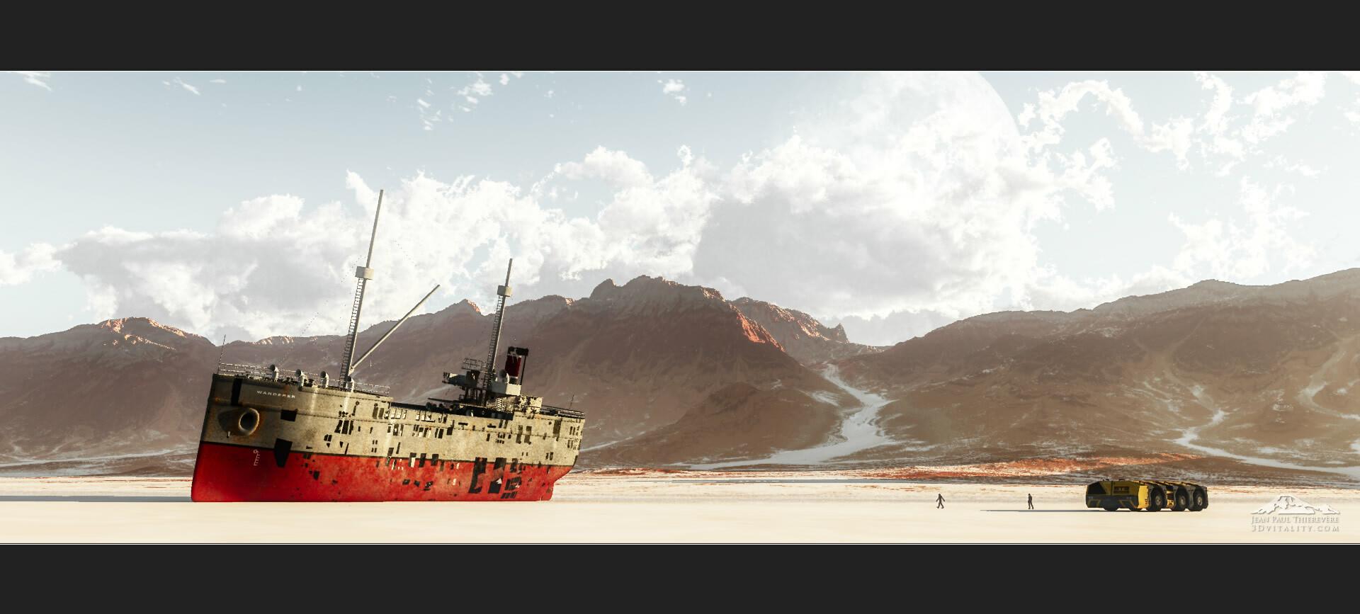 postworked render with Aurora 2019