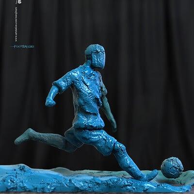 Surajit sen footbaler01 digital sculpture surajitsen feb2020s