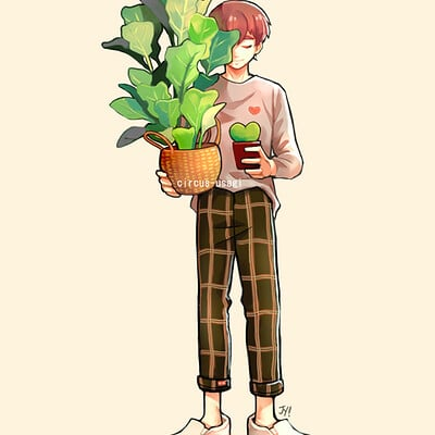 Jia ying ong boy and plant series 01 b