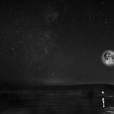 01 silent night bw