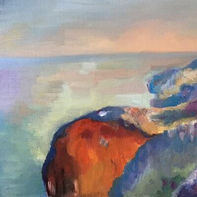 Oil Painting - Imitation of Claude Monet 'Sunrise'