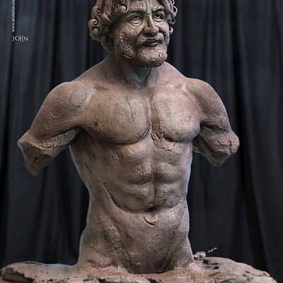 Surajit sen john digital sculpture surajitsen march2020s