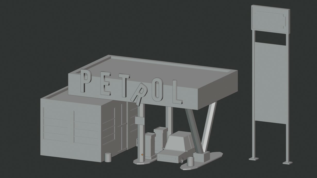 Luciano Correa 3d Abandoned Gas Station