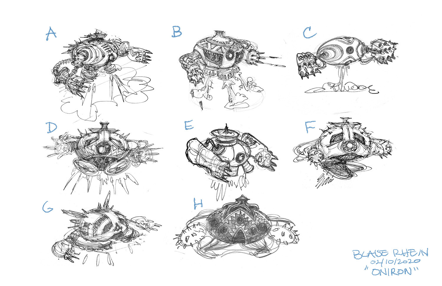 Early Concept Sketches.  Option B was chosen