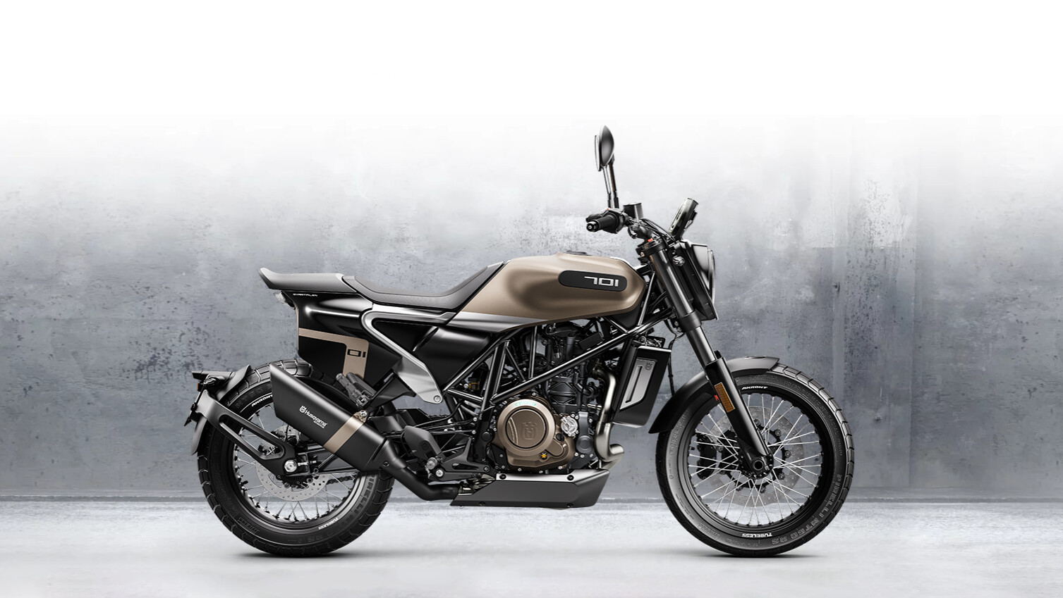 screenshot of the 2020 Husqvarna Svartpilen 701 configurator