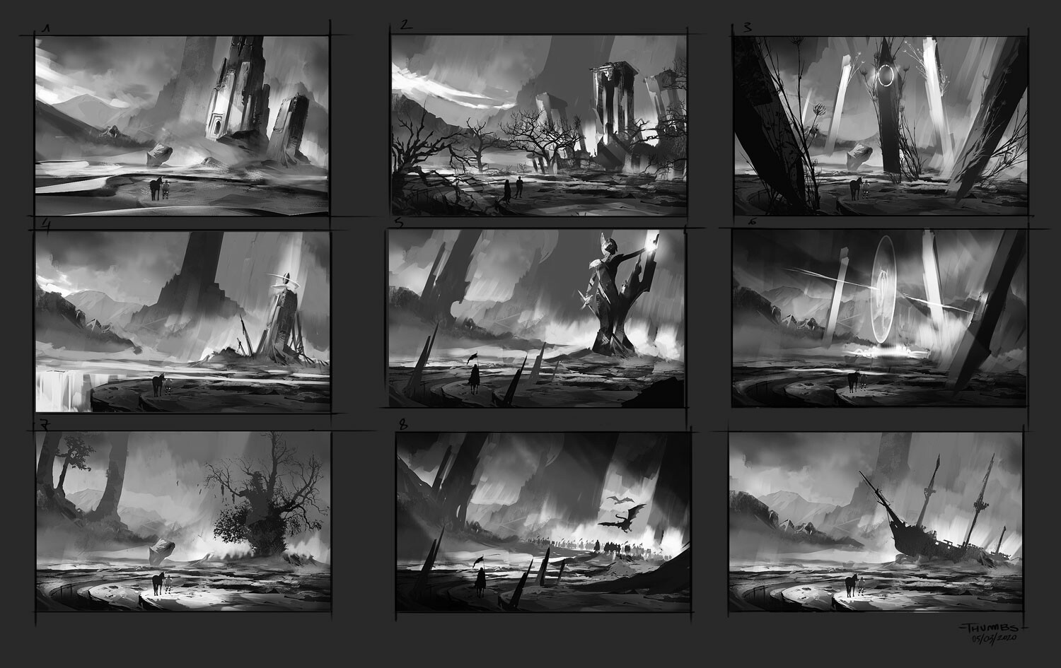 Thumbnails composition