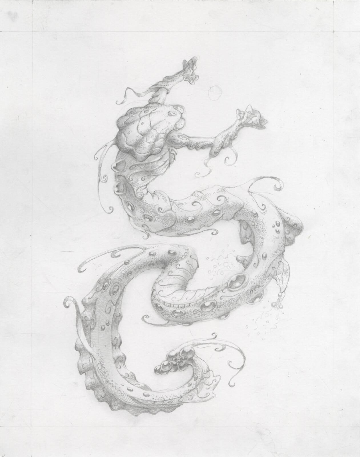 Graphite illustration for Moonberry