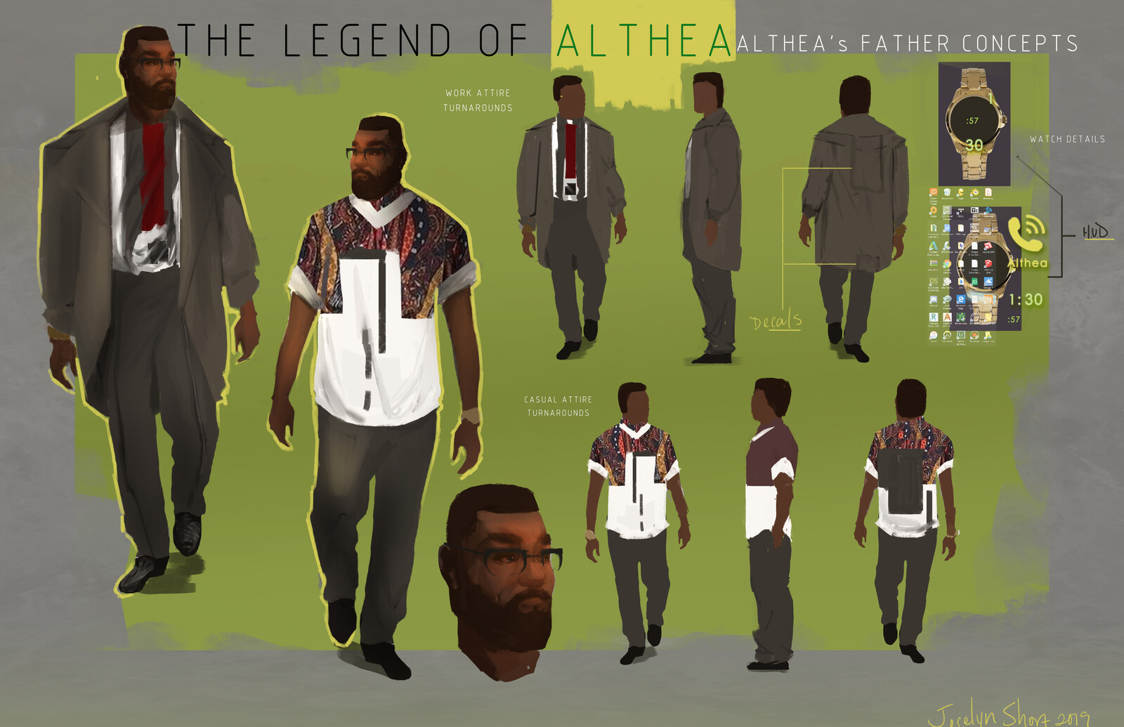 The Legend of Althea: Althea's Dad (Commissioned Work)