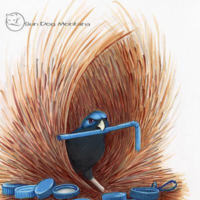 Julian weiler bower bird overgrown