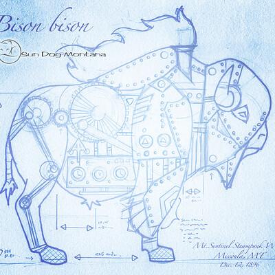 Julian weiler bison blueprint redbubble