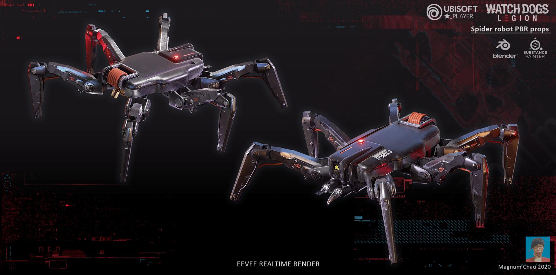 ArtStation - Watchdogs: Legion Spiderbot, Magnum Mak Lam Chau