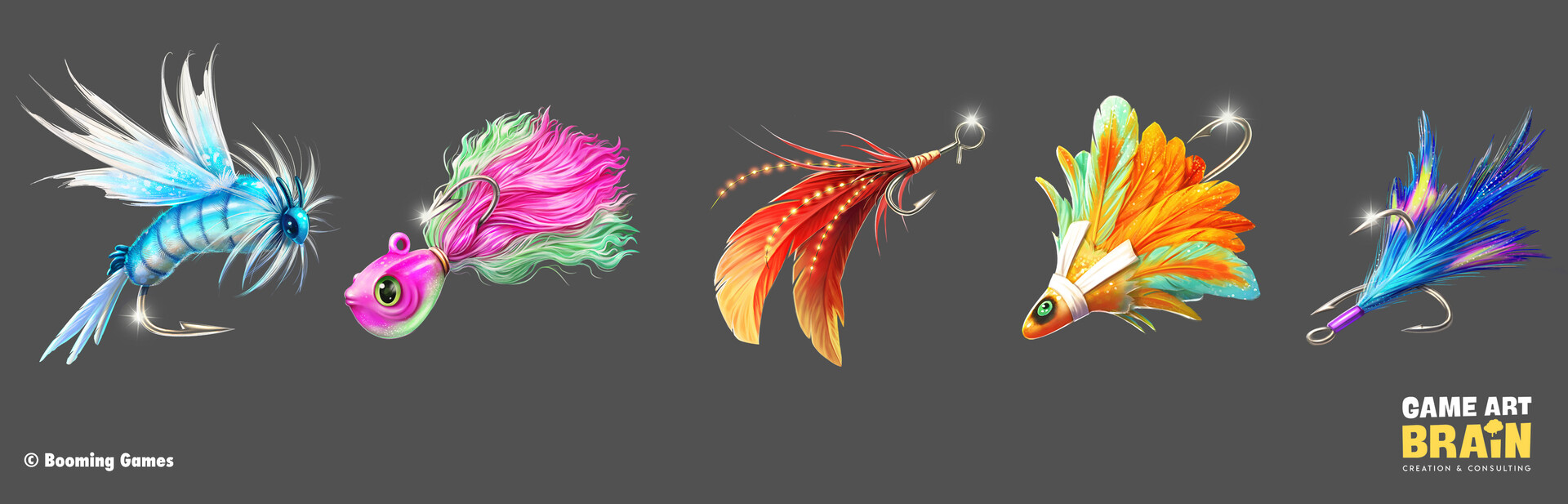 Symbols: Hooks (Worked on rendering or polishing; concept sketches were provided by Game Art Brain)