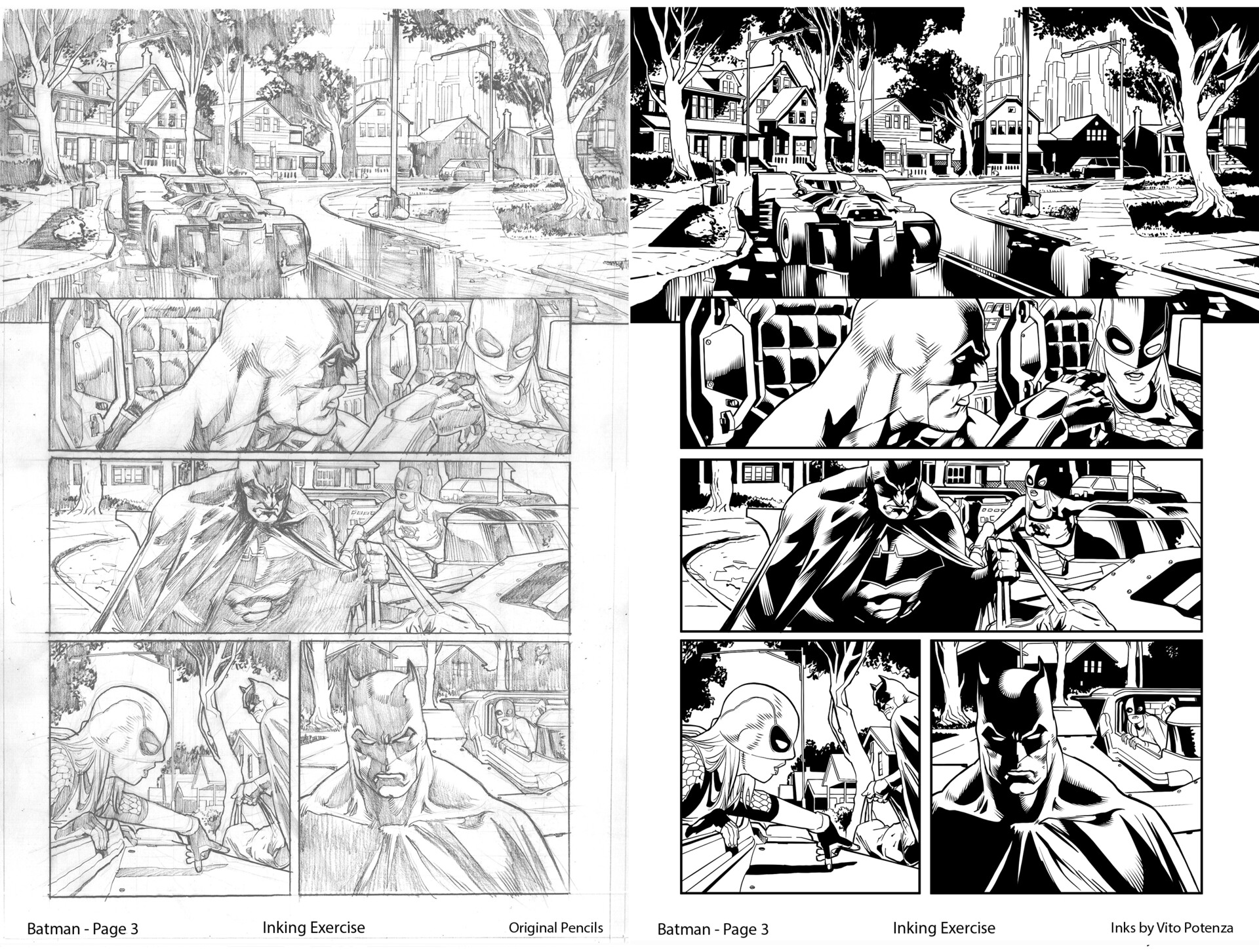 Batman Page 3 - Inked by me