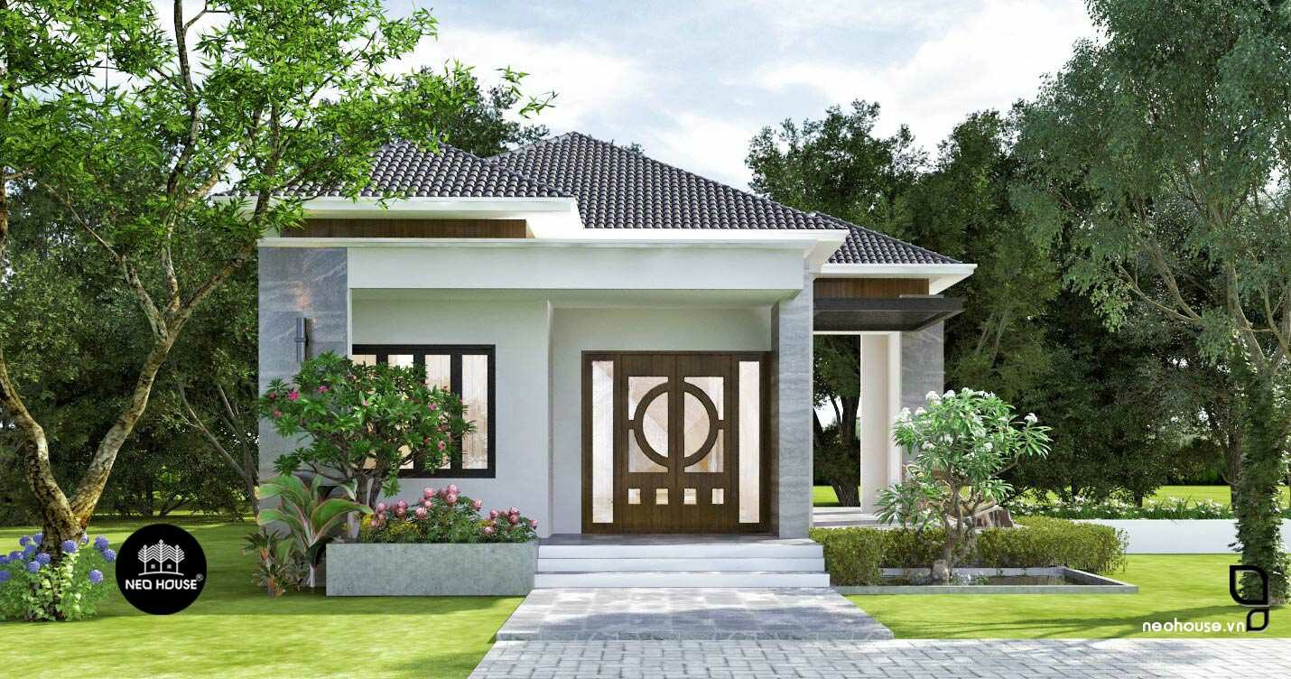 Thiết kế biệt thự vườn 1 tầng. Ảnh 2