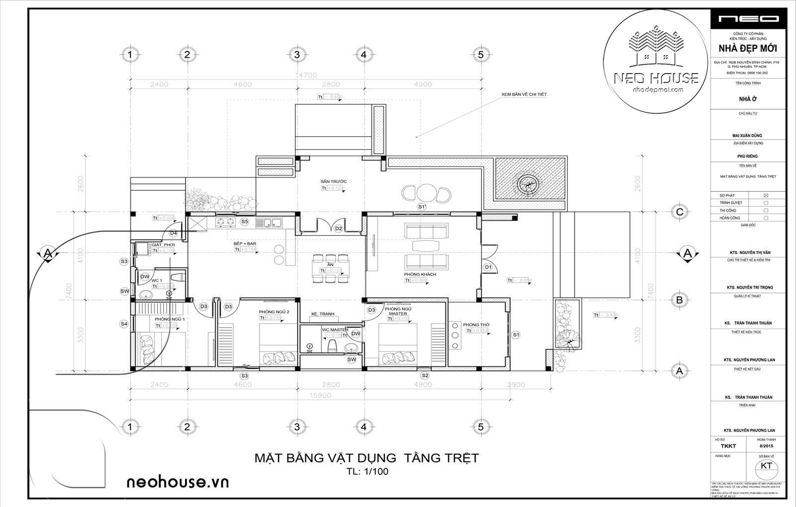 Thiết kế biệt thự vườn 1 tầng. Ảnh 6