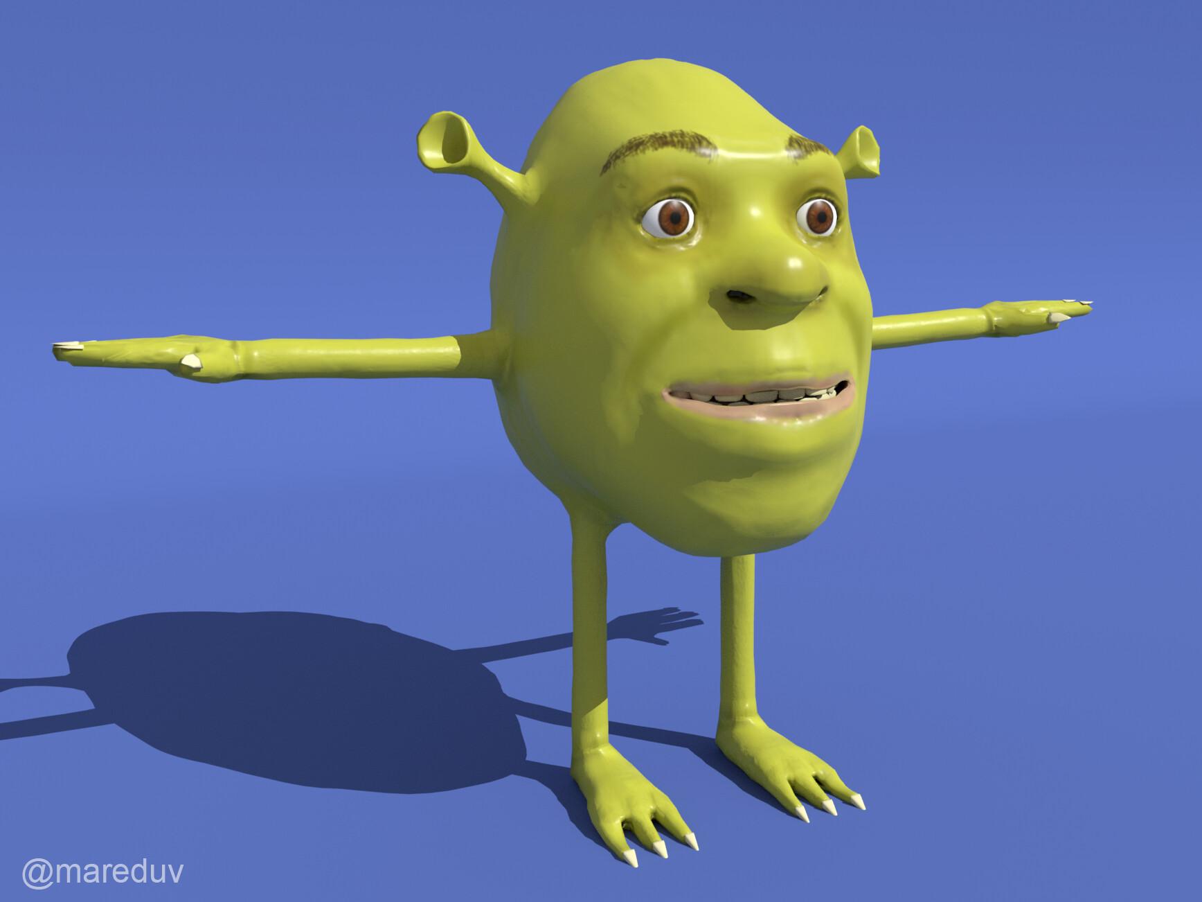Artstation Shrek Wazowski Eduardo Vega