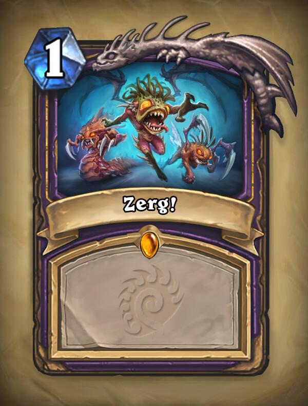 Blank card, Zerg logo, Murloc legendary :)