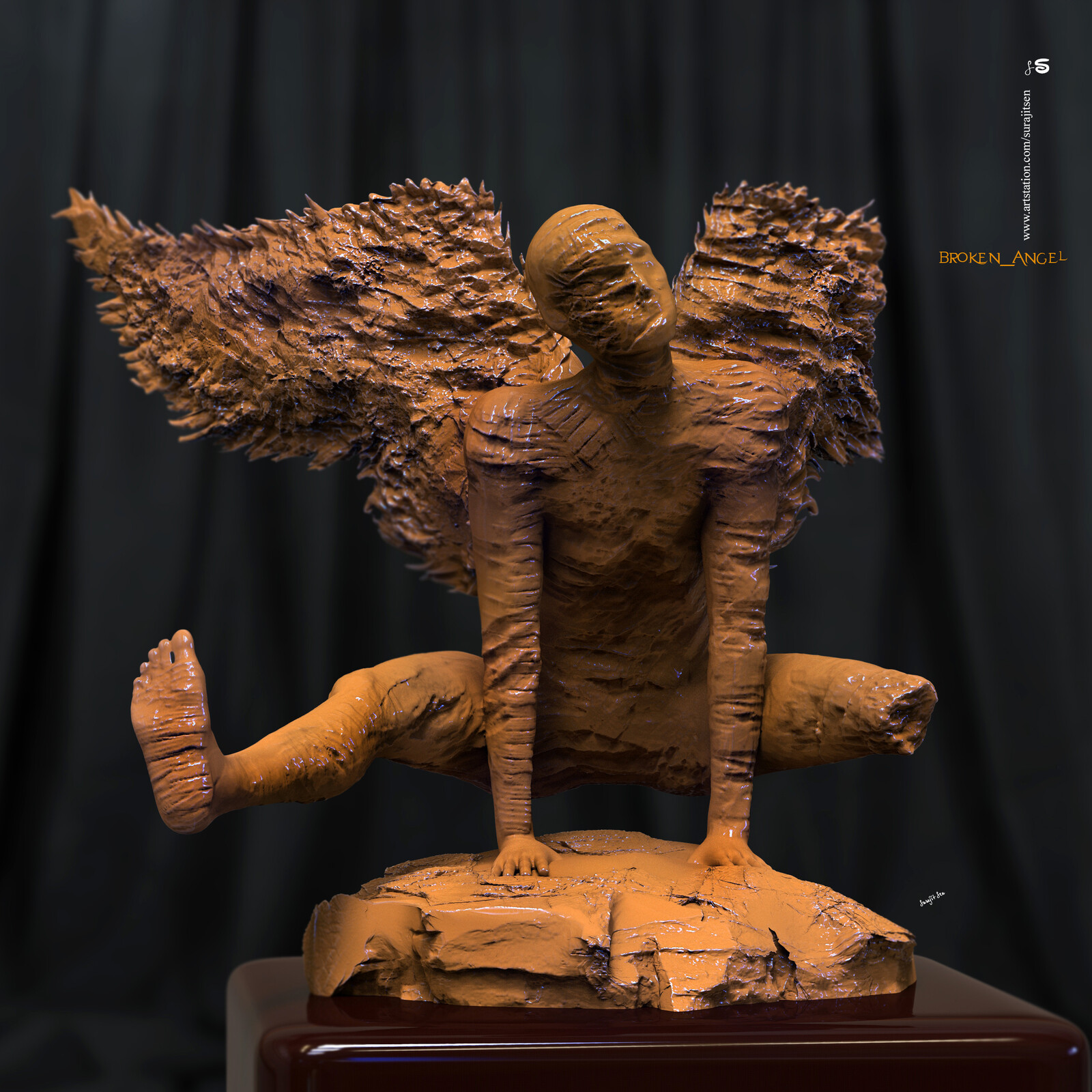 #brokenangel Digital Sculpture. My thoughts....