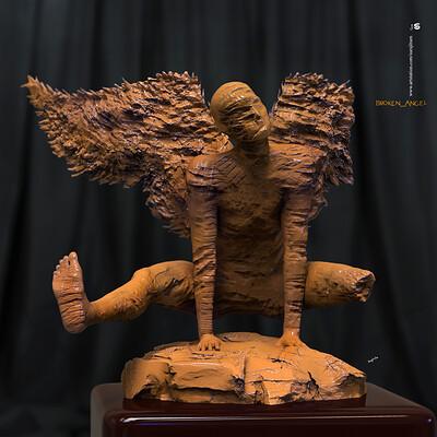 Surajit sen broken angel digital sculpture surajitsen march2020