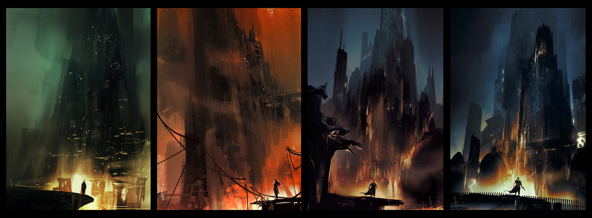 Early Thumbnails and sketches