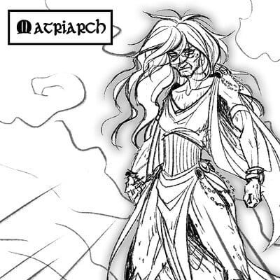 Android priest matriarch sketch