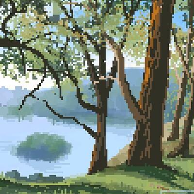 Rose carlson pixel trees
