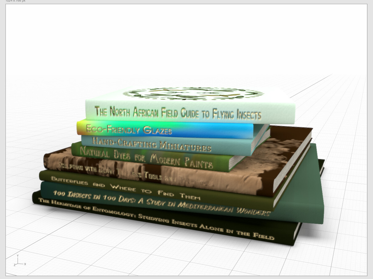 A pile of various reference books.