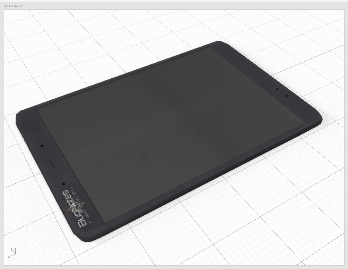 A simple tablet.